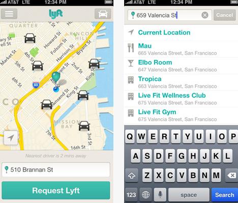 Urban Apps Lyft Ride Sharing