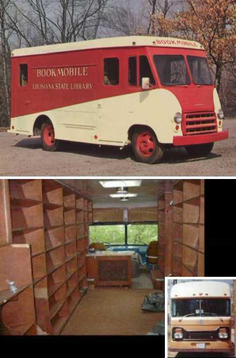 Shreve Mobile Library abandoned bookmobile