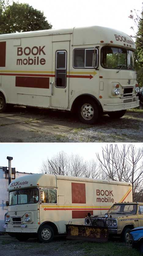 abandoned bookmobile Kent Ohio
