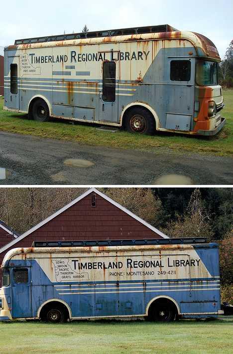 Timberland Regional Library abandoned bookmobile