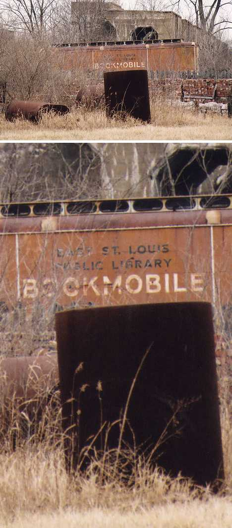 East St. Louis abandoned bookmobile