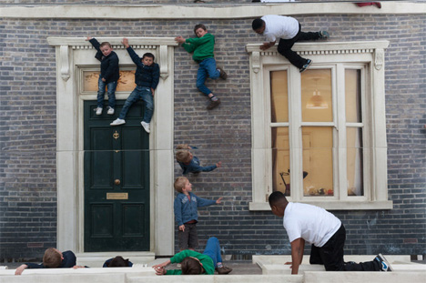 dalston house gravity defying art installation