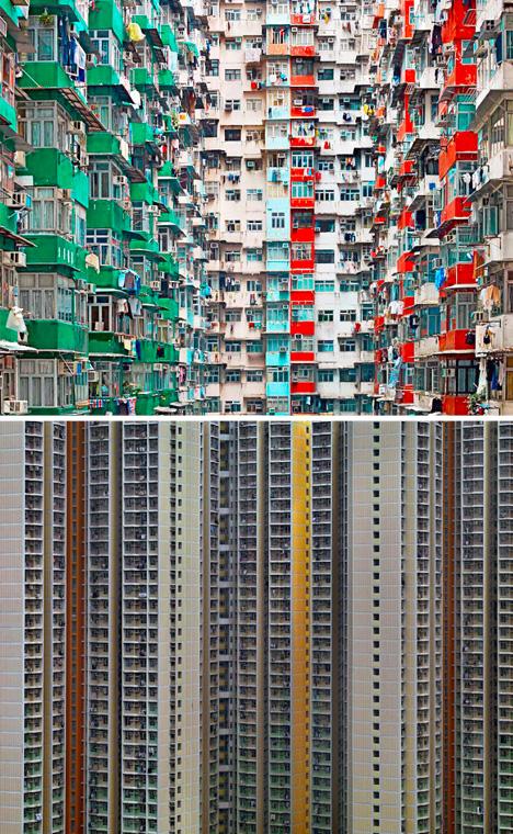 dense urban city images