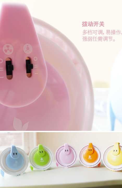 vPro Office Multifunction USB Fan Lamp Pig Nose