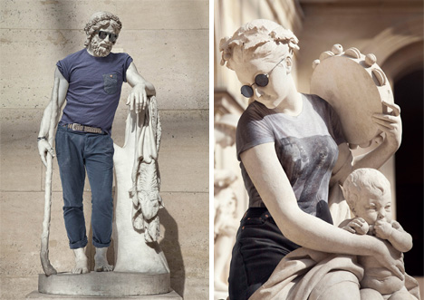 hipster statues