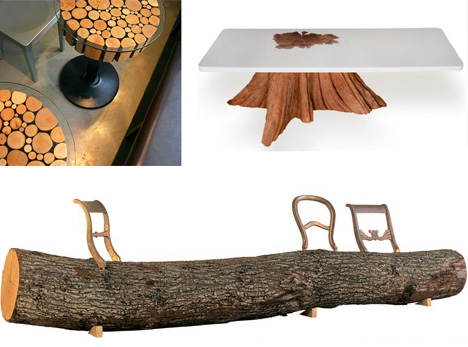 log furniture set series