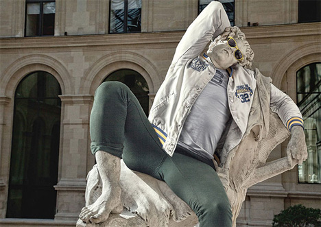 parisian hipster greek statues