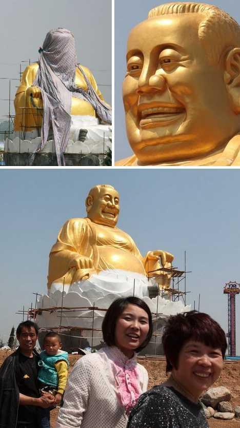 Luoyang entrepreneur Buddha golden statue