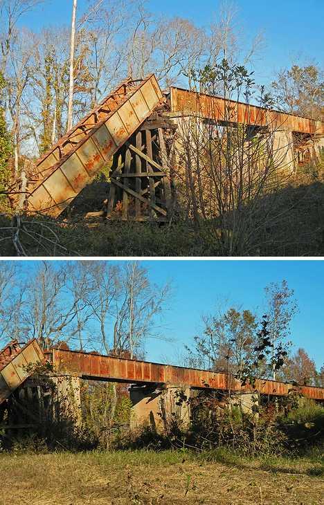 Atlantic Coastline Railway Edgecombe abandoned train trestle
