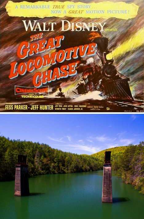 Great Locomotive Chase Tallulah Falls train trestles
