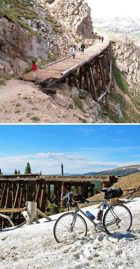Rollins Pass Colorado Devils Slide train trestle