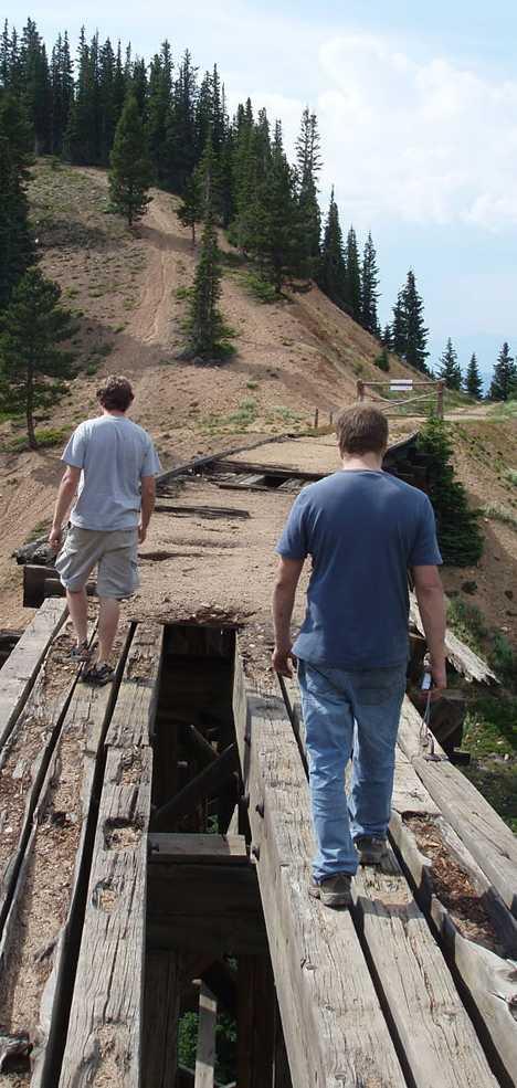 Devils Slide Trestle train Colorado
