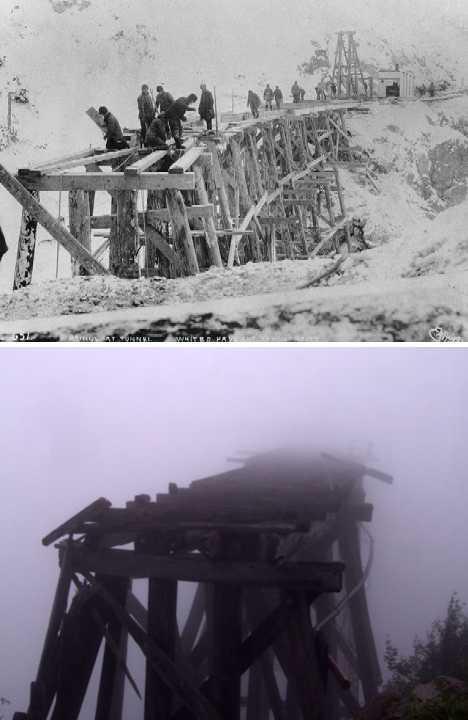 Dead Horse Gulch Yukon railway trestle