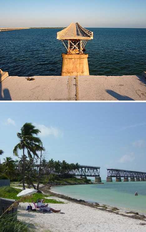 abandoned Bahia Honda Rail Bridge trestle Florida Keys