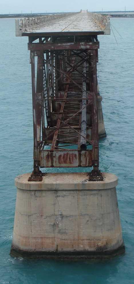 Overseas Railway Bahia Honda bridge abandoned trestle