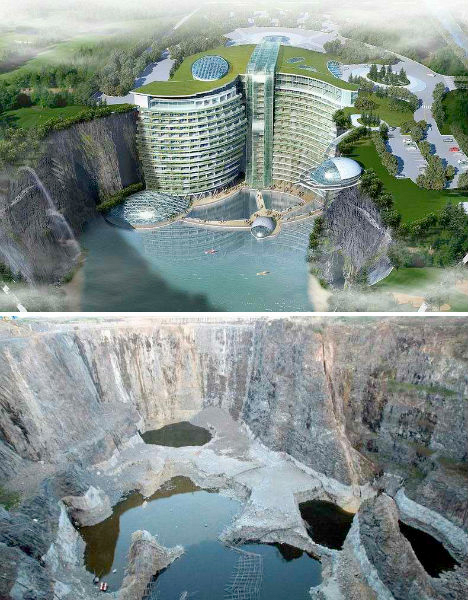 Abandoned Quarry Resort China 4