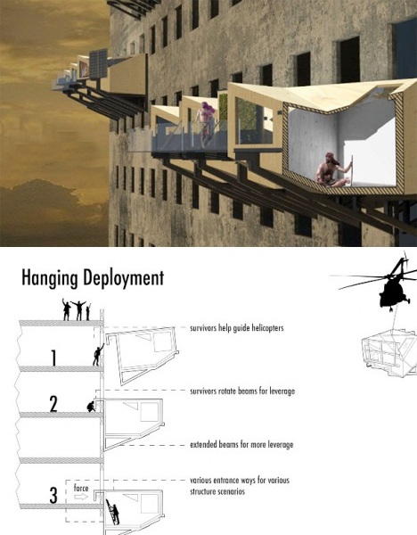 Parasitic Architecture Emergency Homes