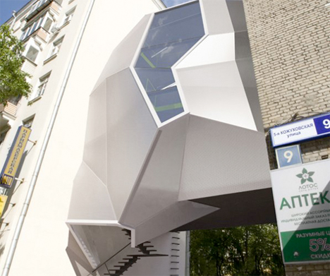 Parasitic Architecture Moscow office 2