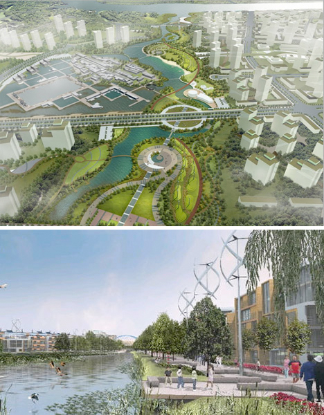 Unbuilt Urban Wonders Dongtan City China