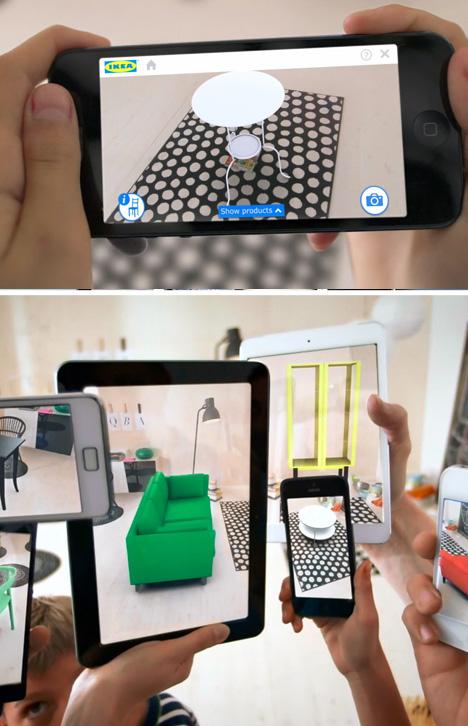 Virtual Interior Design Augmented Reality Ikea 2014