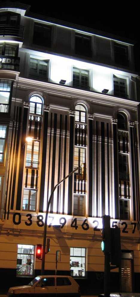 Cuatro Caminos Square A Coruña Spain barcode building