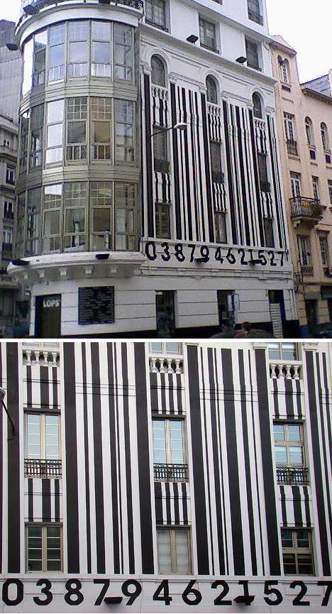 Cuatro Caminos Square A Coruña barcode building