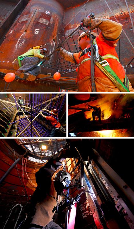 blum bay construction workers