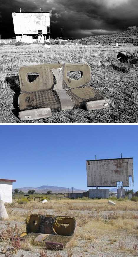 abandoned drive-in movie theater