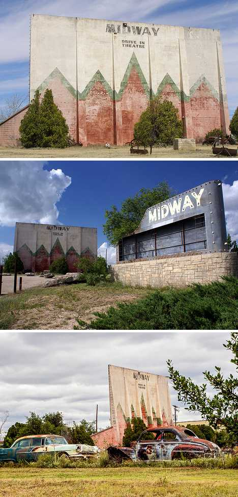 abandoned Midway drive-in theatre Sweetwater Texas