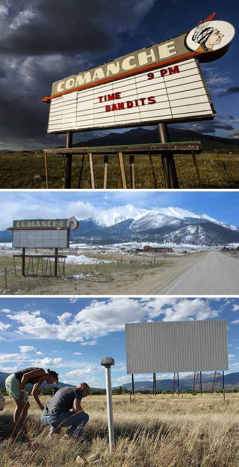 abandoned Comanche drive-in theater Buena Vista Colorado