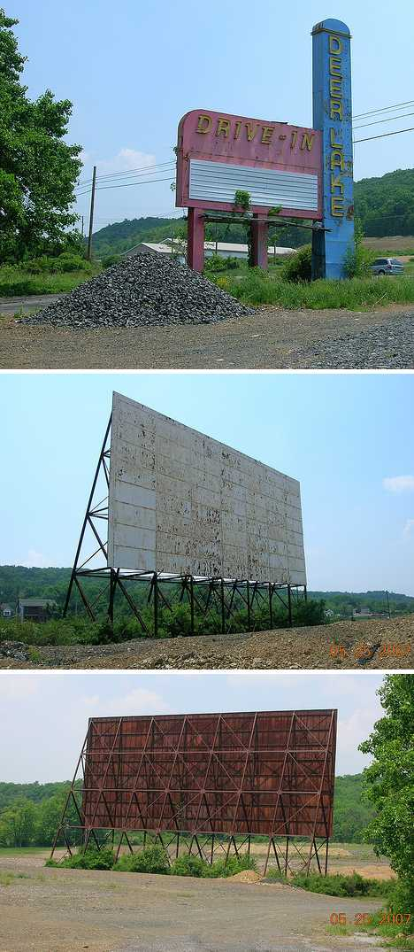 abandoned Deer Park PA drive-in movie theater