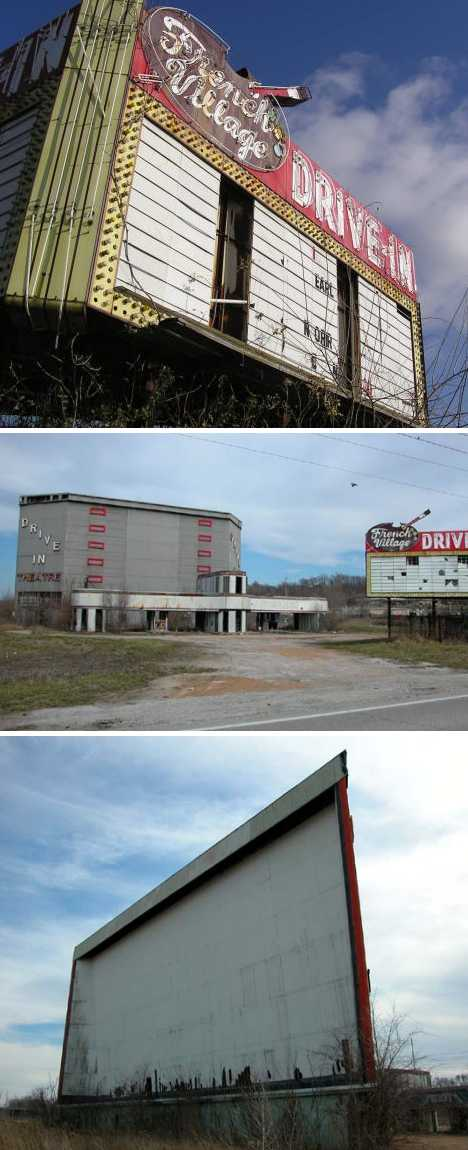 abandoned French Village drive-in theater east St. Louis