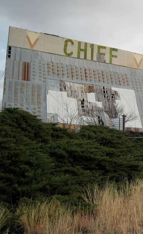 abandoned Chief drive-in theater Carey Texas
