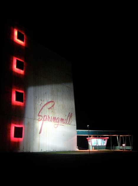 Springmill drive-in movie theater Ohio