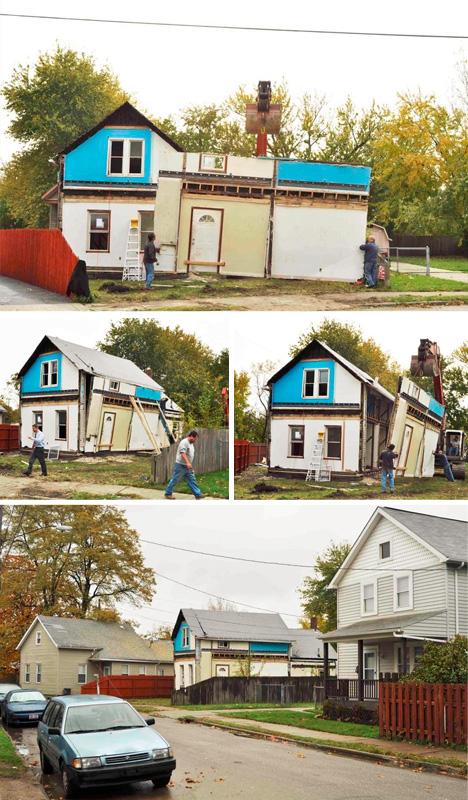 flipped facade building art