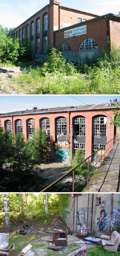 abandoned Finnmatch factory Tampere Finland