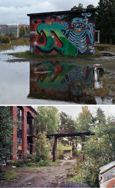 abandoned Finnmatch match factory Tampere Finland