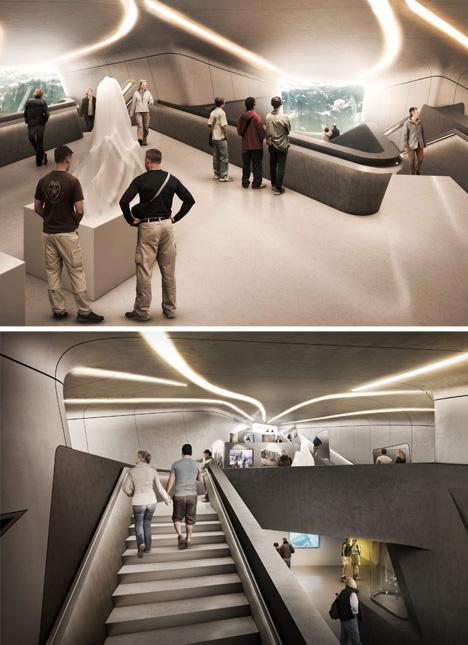 mountain building underground rooms
