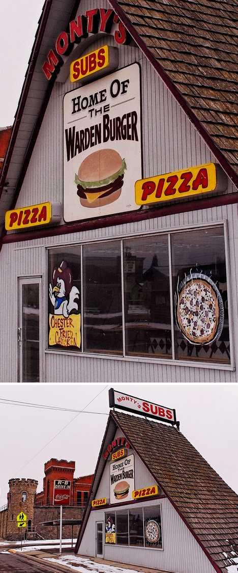 Monty's Subs abandoned pizzeria Deer Lodge Montana prison