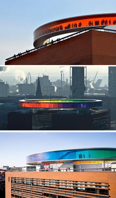 rainbow rooftop viewing platform