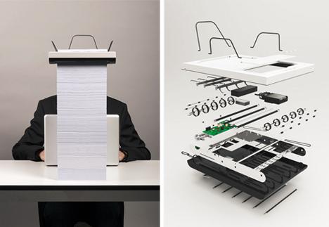 stack minimal printer design