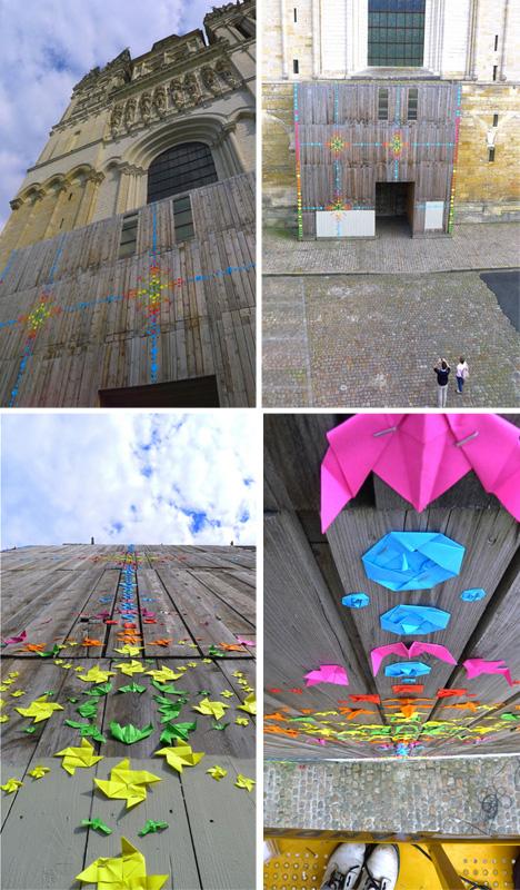 urban color wall installation