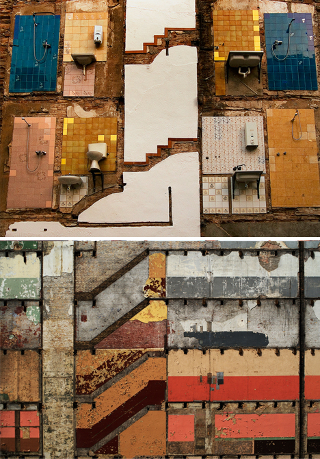 void building demolition art