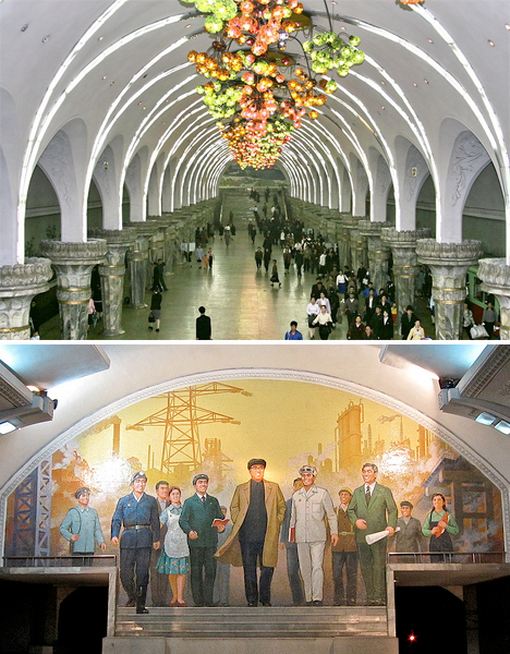 Amazing Subway Stations Pyongyang