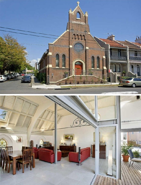 Converted Church Concealing Modern Home 1