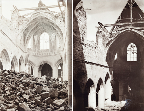 Destroyed Cathedral France WWI 3