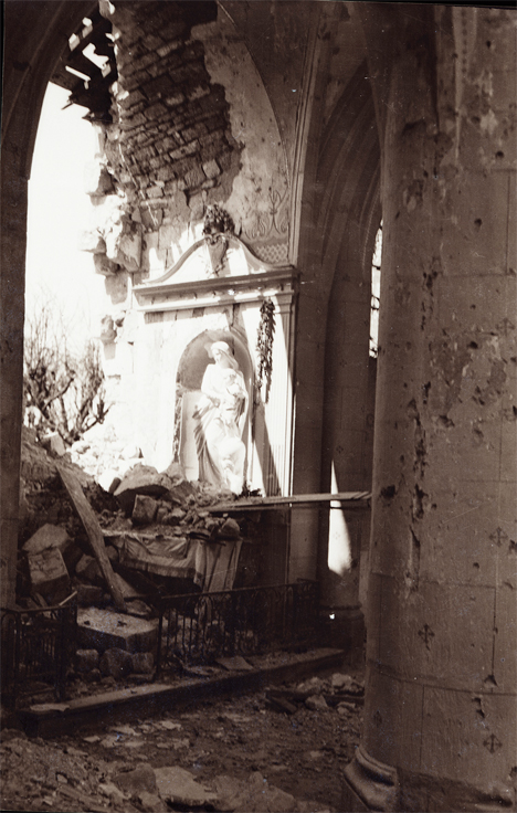 Destroyed Cathedral France WWI 4