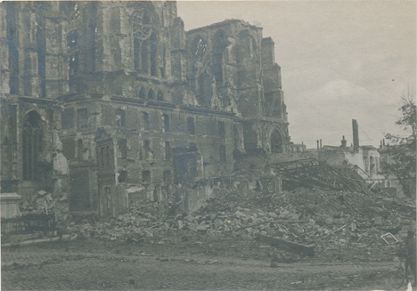 Destroyed Cathedral France WWI 6