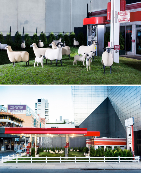 Gas Station Sheep Urban Art 3