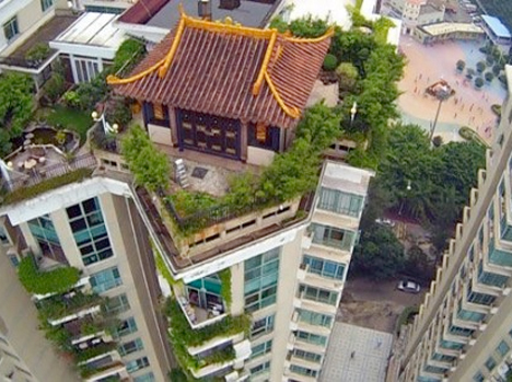 Illegal Rooftop Temple China 1